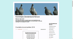 Preview of blog.koninklijkedenderbondninove.be